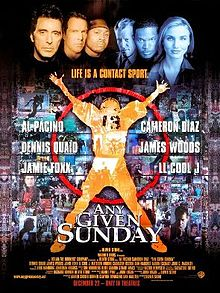 American football film - Any given sunday