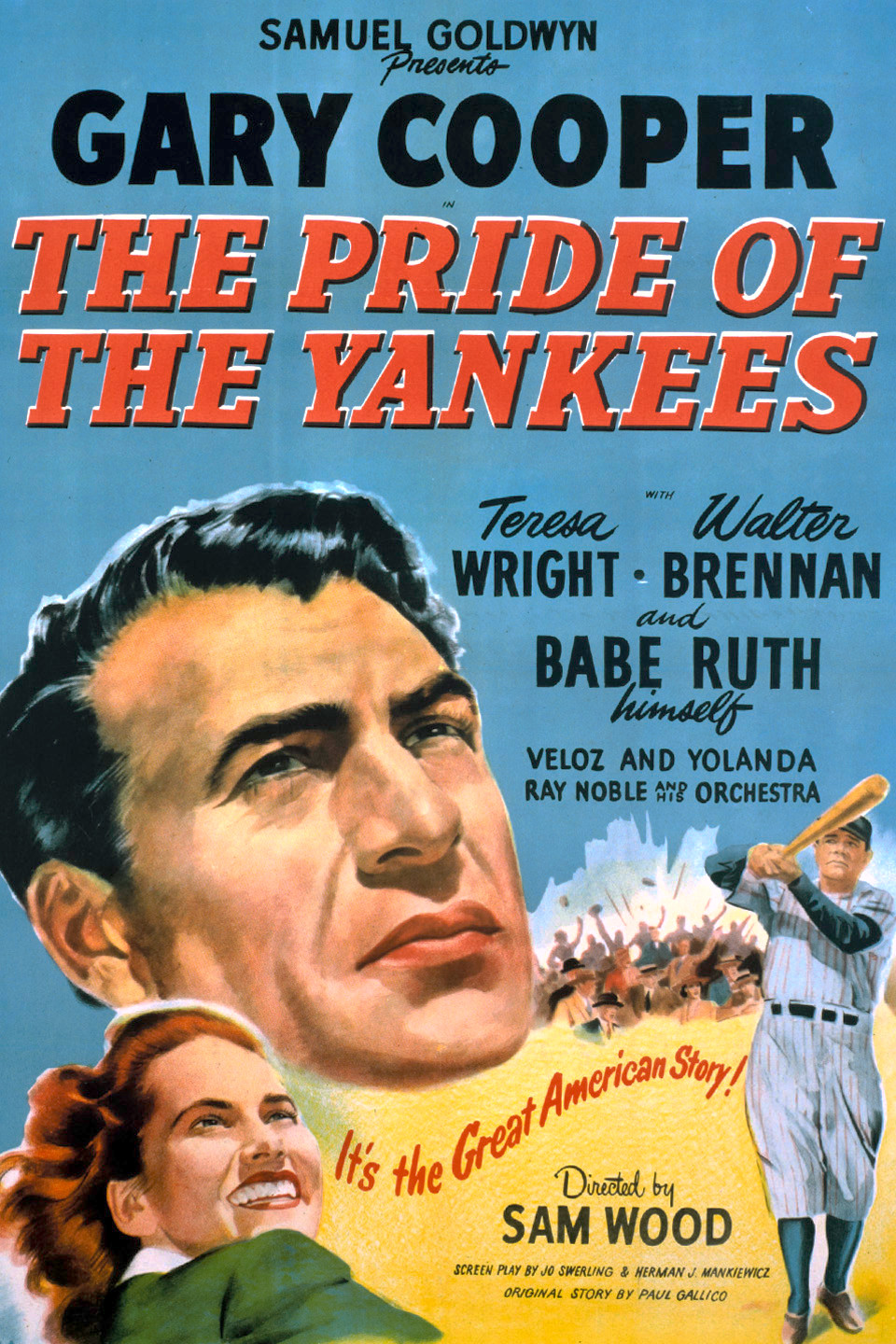 best baseball movies - pride of the yankees